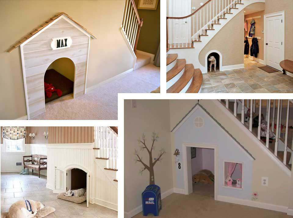 Dog house under stairs....